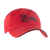 ENZYME WASHED CHINO TWILL CAP - RED